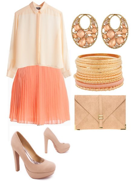 It's All Peachy! 6-Piece Pastel Peach Look for $160