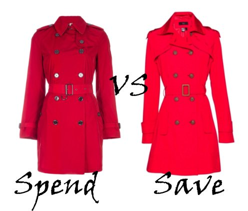 Spend VS Save: Red Trench Coats 1