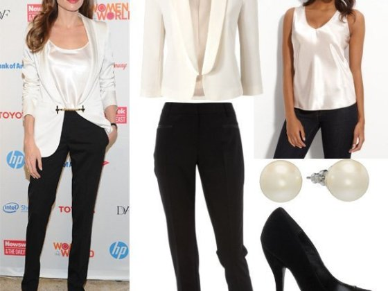Get Her Style - Angelina Jolie's Black & White Outfit for $160 5