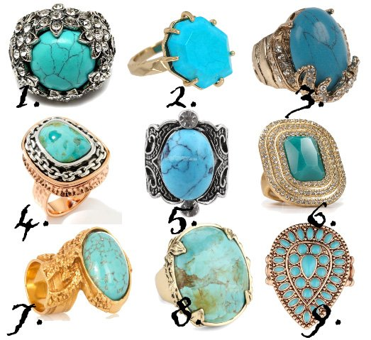 Finger Treats: 9 Turquoise Rings From $5 to $50