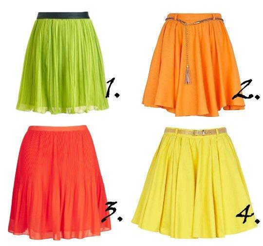 Savory Treats: Pleated Citrus Skirts Under $60