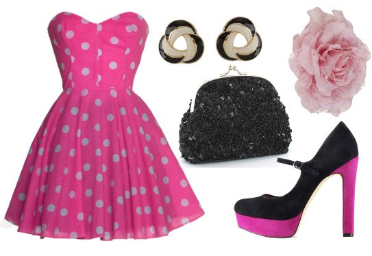Modern Pin-Up Delight – Retro Fun in Polka Dots for $112