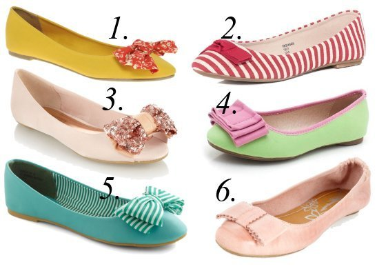 Summer Essentials: Colorful Bow Flats Under $35