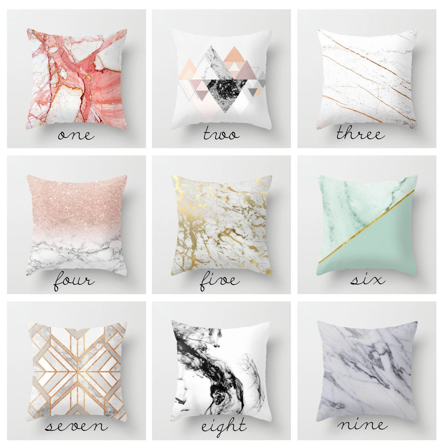 Trend Alert: Marble Pillows for $20