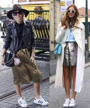 metallic-skirt-outfits