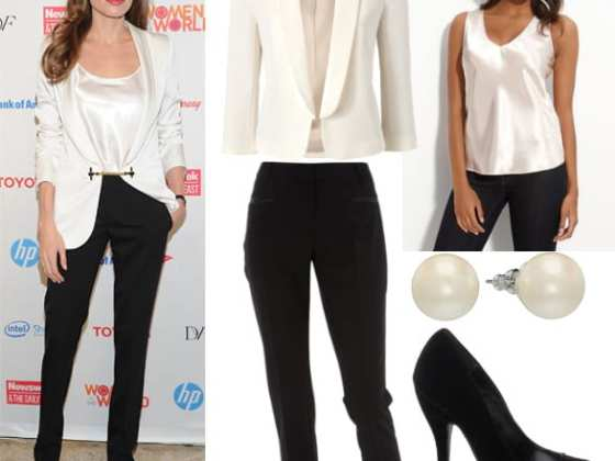 Get Her Style - Angelina Jolie's Black & White Outfit for $160 4