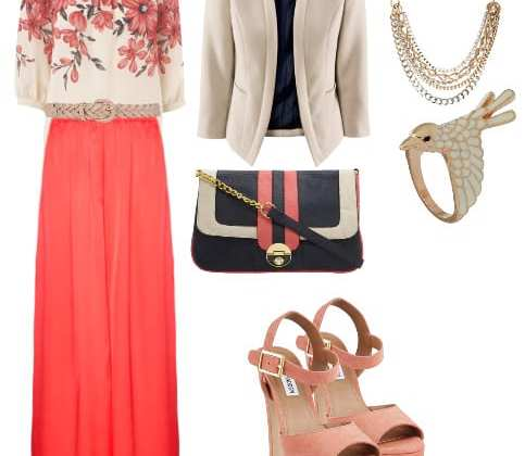 Daily Outfit: Alternative Work Day in Coral and Florals 3