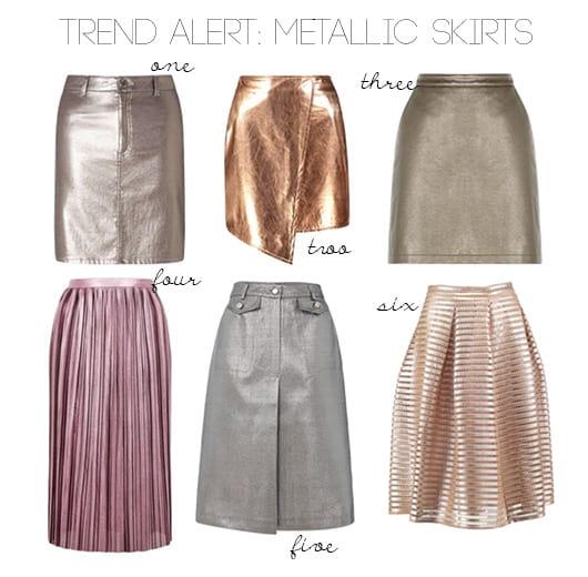 6 Metallic Skirts Under $50 & How to Wear Them