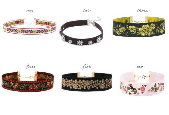 6 Floral Chokers Under 30$ 15