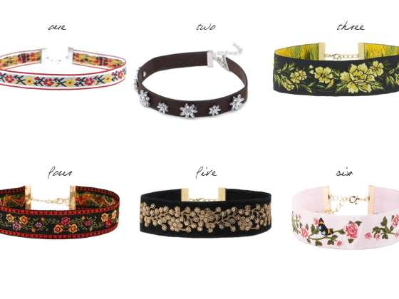 6 Floral Chokers Under 30$ 9