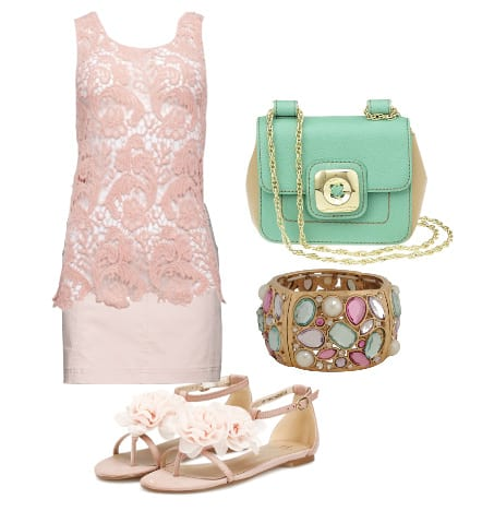 Warm Weather Essentials: Pink Lace and Minty Freshness 1