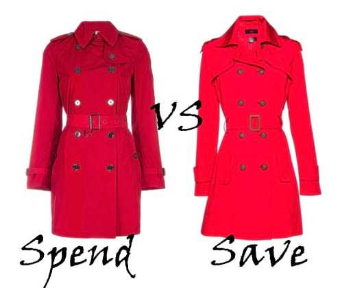 Spend VS Save: Red Trench Coats 3