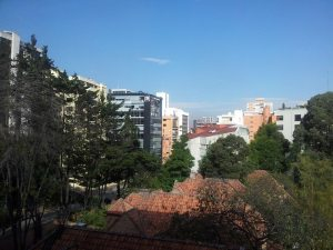 When the sky's blue in Bogota, it's really blue!