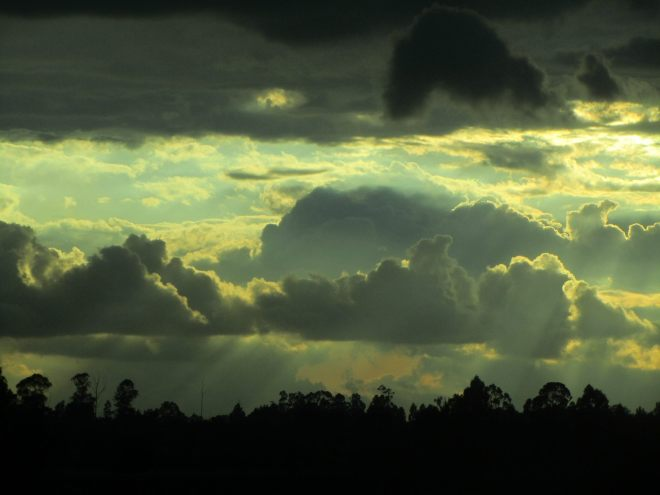 Bogota sky clouds