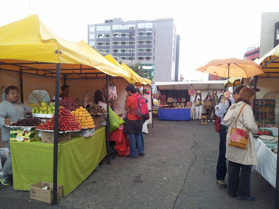 Usaquén market offers all kinds of souvenirs, art, fashion, food and drink