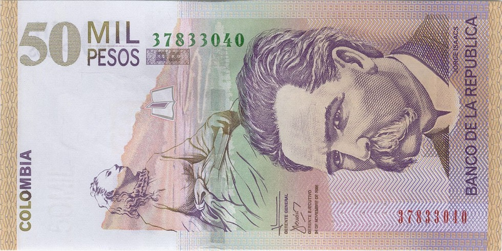 Where to change euros and dollars for pesos in Bogota