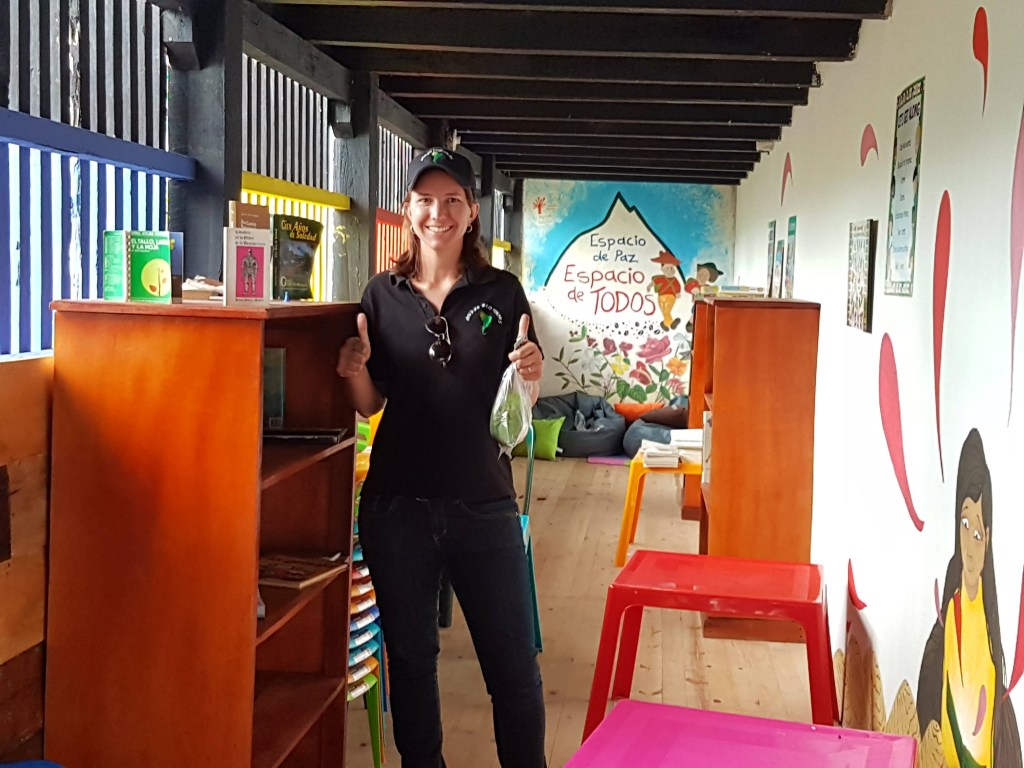 Children's library at the Cerro de Quinini