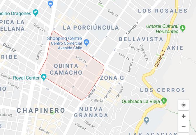 Bogota Quinta Camacho map