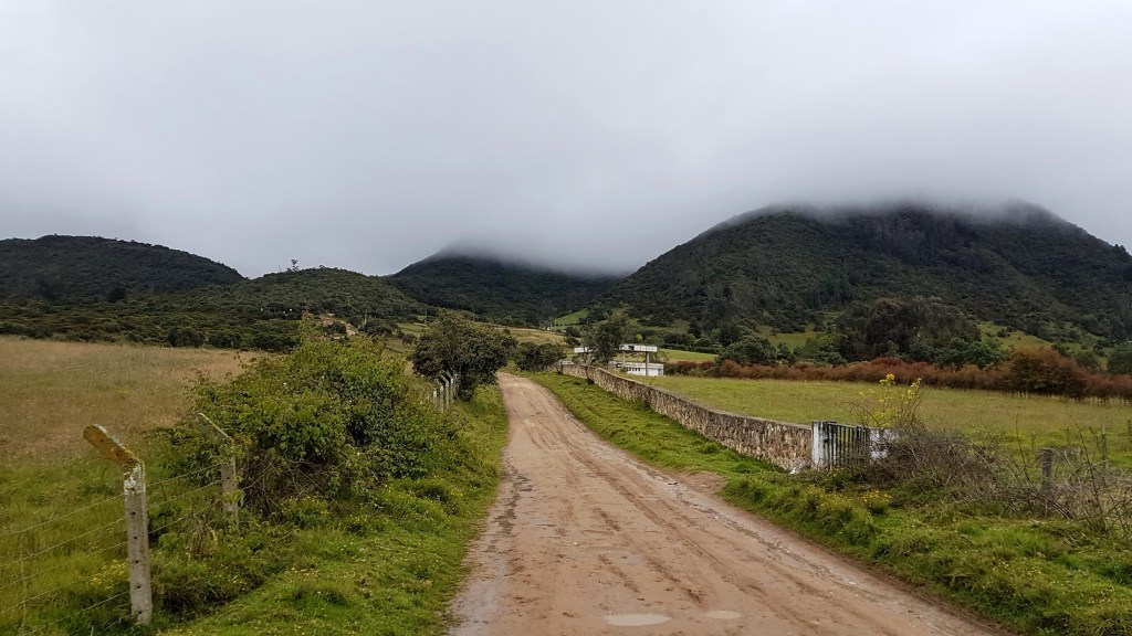 Horse riding near Bogota in La Calera Colombia