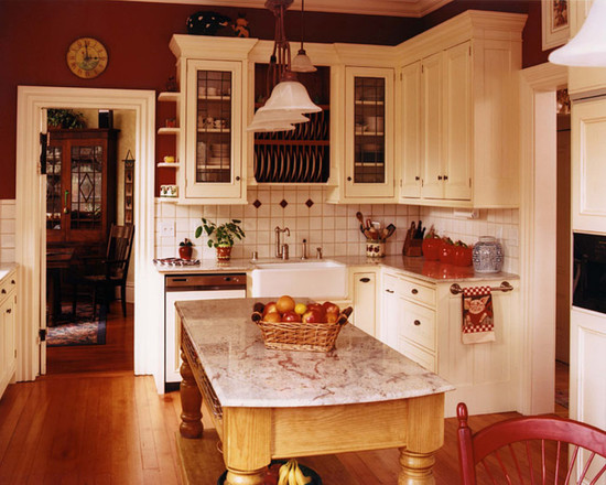 Painting Your Kitchen - Color Tips   How To Build A House on Traditional Kitchen Wall Decor  id=46889