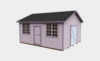 30 Free Storage Shed Plans With Gable  Lean to and Hip Roof Styles Free 16x20 shed plan pdf