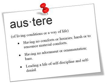 austere definition