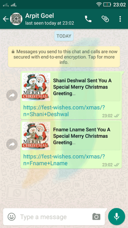 online merry christmas wishes