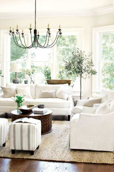 neutral living room decor Decorating with Neutrals & Washed Color Palettes - How To Decorate