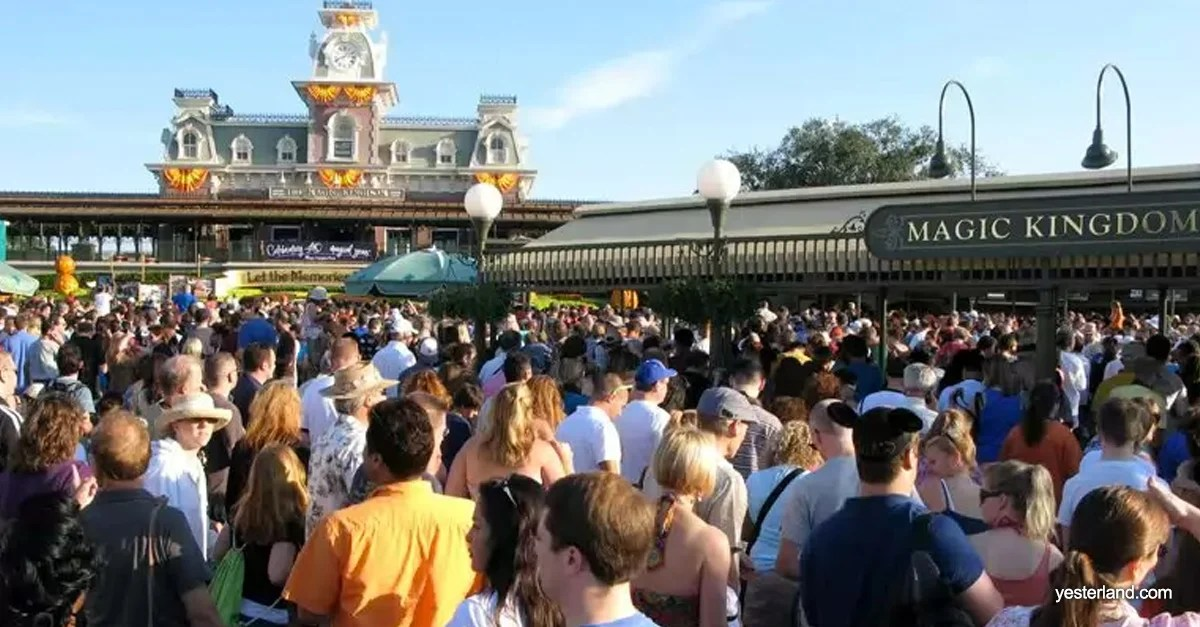 Image result for crowds at magic kingdom