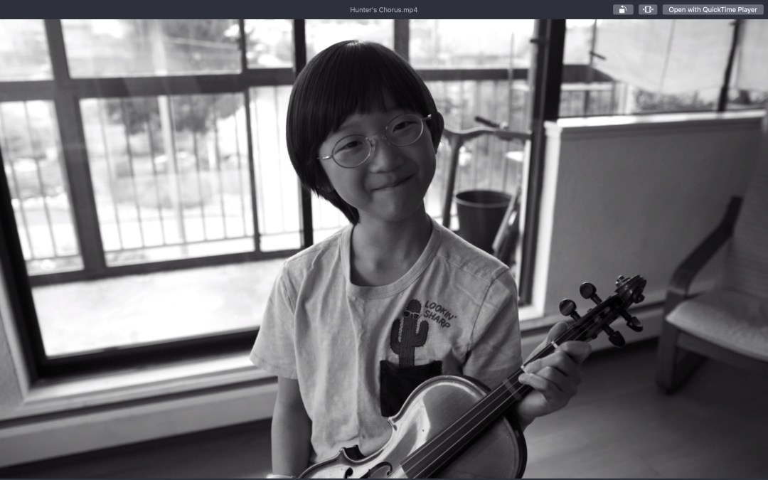 Playing Hunter's Chorus on the Violin (Video)