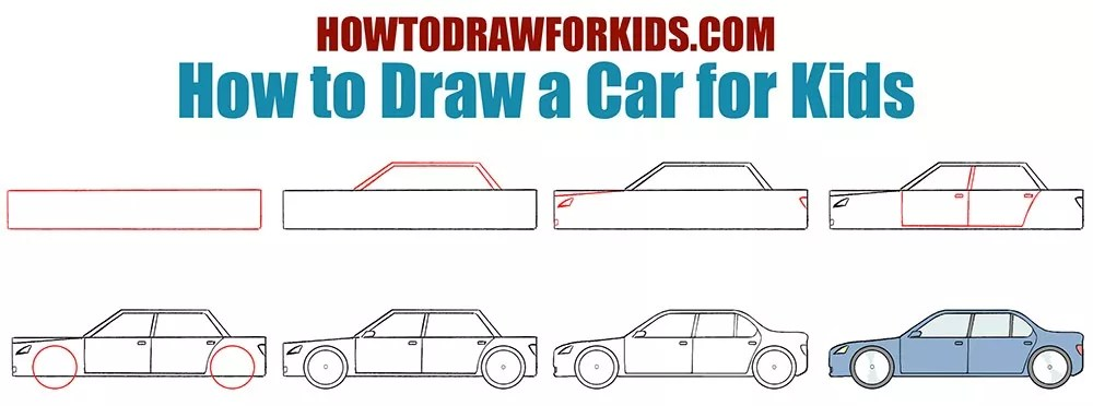 How to Draw a Car for Kids | How to Draw for Kids