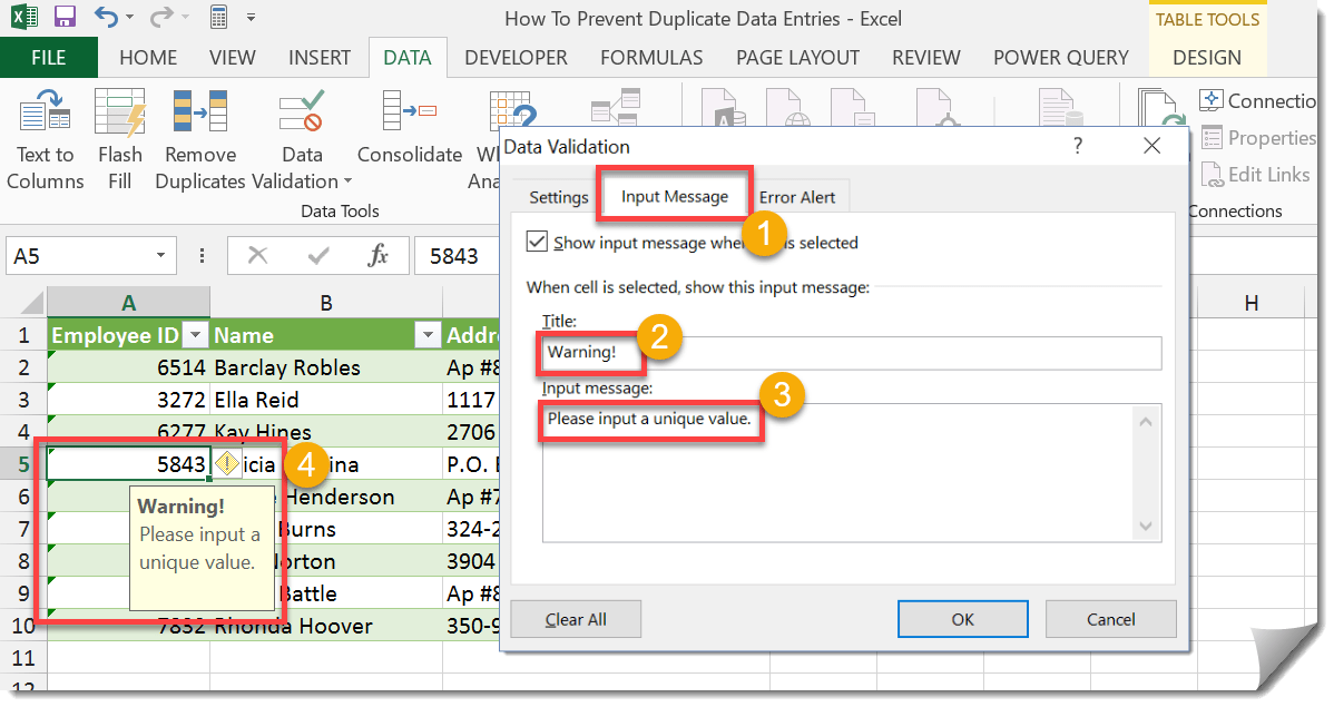 how to clear duplicate data in excel