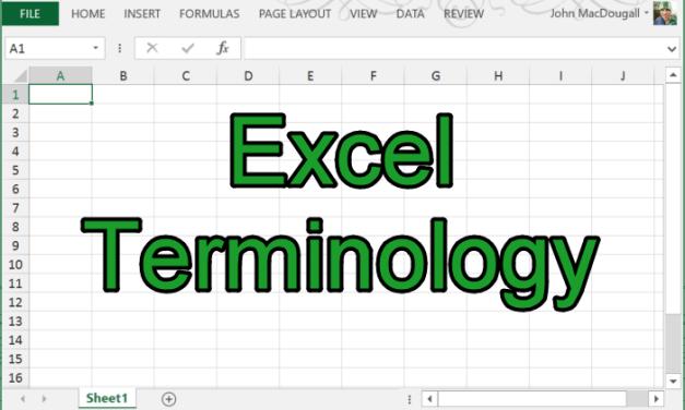 Excel Terminology