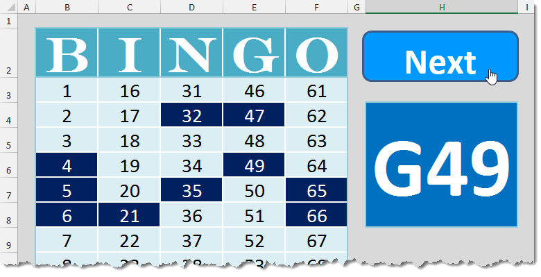 bingo template how to excel
