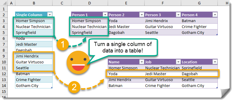 Step-001-How-To-Turn-A-Column-Into-A-Table-Using-Formulas How To Turn A Column Into A Table Using Formulas