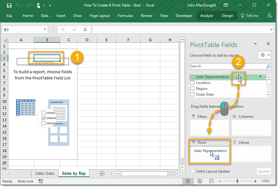 how to delete a field in pivot table