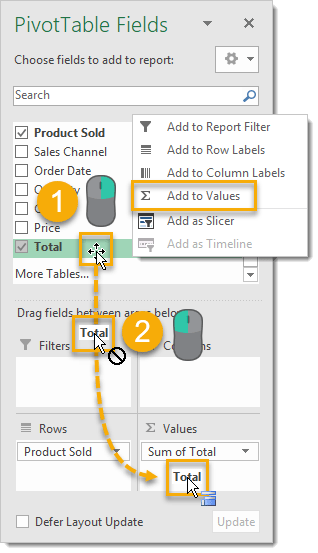 Add-a-Second-Field-to-the-Values-Area 101 Advanced Pivot Table Tips And Tricks You Need To Know