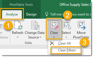 Clear-All-Filters-from-a-Pivot-Table 101 Advanced Pivot Table Tips And Tricks You Need To Know