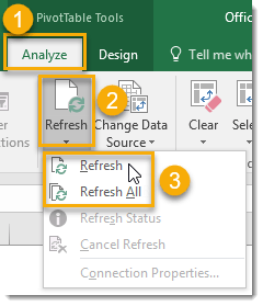 Refresh-Your-Pivot-Table-Data 101 Advanced Pivot Table Tips And Tricks You Need To Know