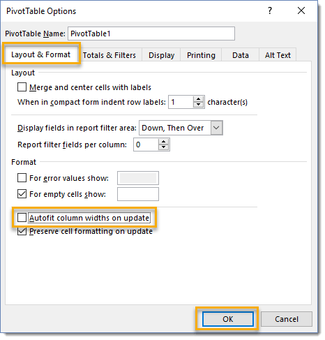 Uncheck-Autofit-Column-Widths-on-Update-from-PivotTable-Options 101 Advanced Pivot Table Tips And Tricks You Need To Know