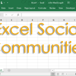 Excel Social Communities