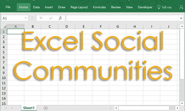 Excel Social Communities