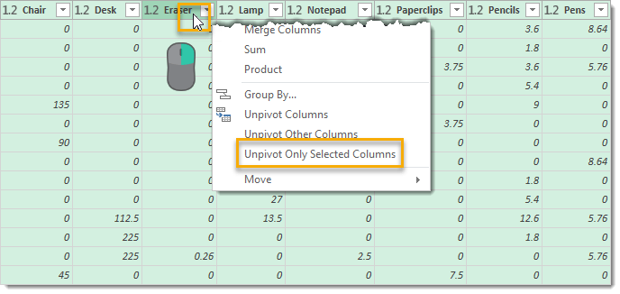 Unpivot-Only-Selected-Columns How To Unpivot Data With Power Query