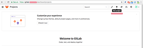 Create a Gitlab project