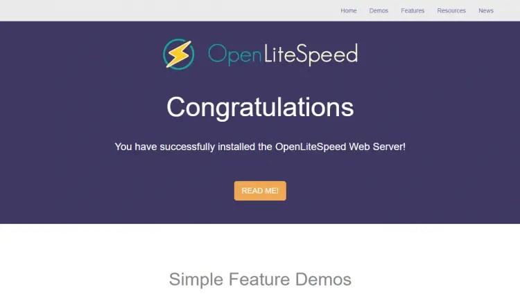 OpenLiteSpeed Default Page