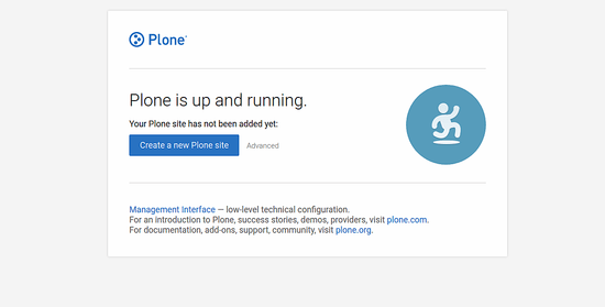 Plone CMS is up and running