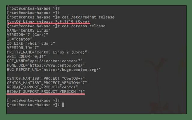 Verifique la versión CentOS y la versión Kernel