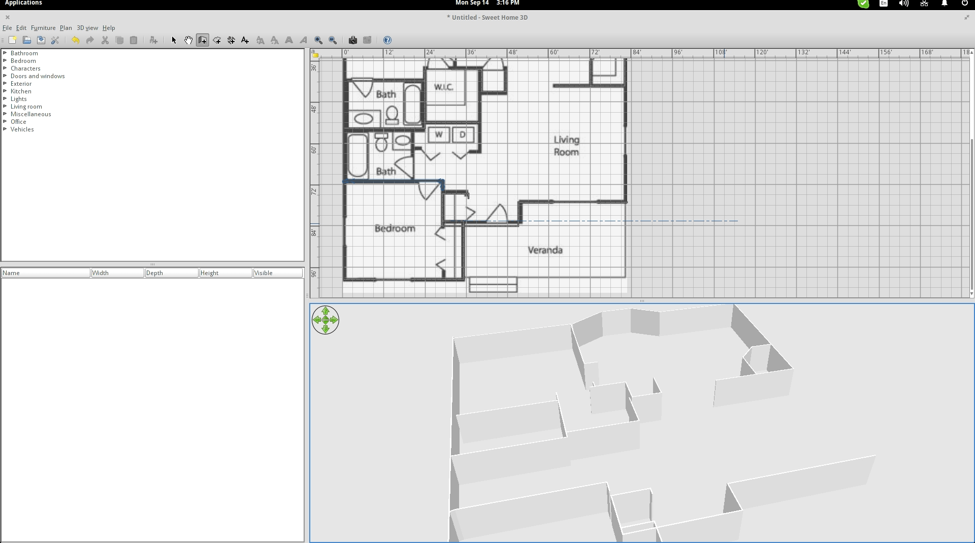 Get Started With Sweet Home 3D On Linux | Staircase Sweet Home 3D | Floor Plan | Sh3D | 3D Model | Eteks | Software