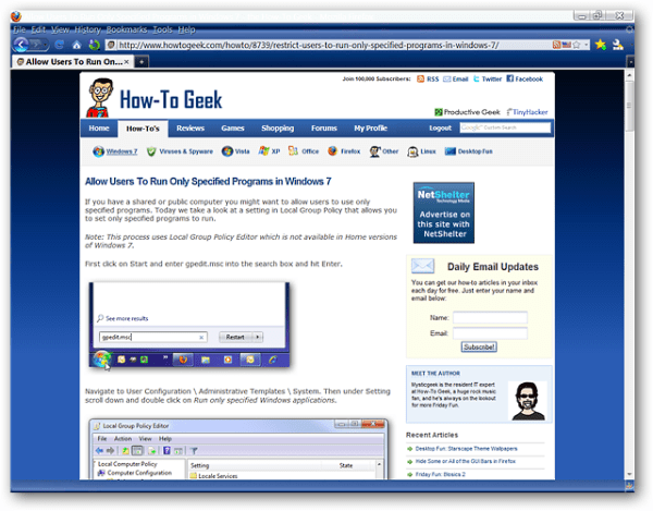 Customize the Reading Format for Webpages in Firefox