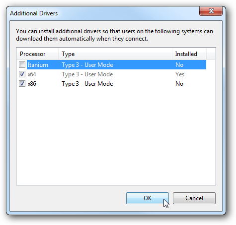 3 Printer add drivers